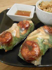 Eat cook and love: Rouleaux de printemps aux crevettes teriyaki