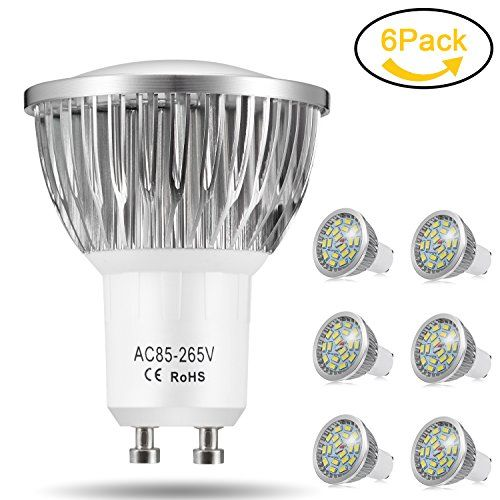 Ampoule LED GU10, 7W 18 x 5370 SMD Lampe LED, Blanc Froid 6000K, 550lm, AC85-265V, 140°Larges Angle d'Éclairage Ampoule Spot LED by Jpodream - Lot de 6 #Ampoule #Lampe #LED, #Blanc #Froid #°Larges #Angle #d'Éclairage #Spot #Jpodream
