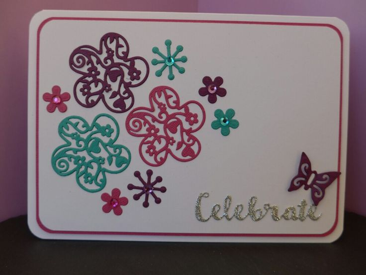 Cards made using X-cut filigree layered flowers for Die-Cutting Essentials