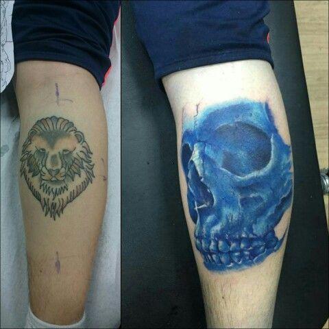 Antes-despues del coverup! Mucho tiempo que no subo fotos por este medio  Dejo fanpage de Facebook  Felipe Oyarce Tatuajes