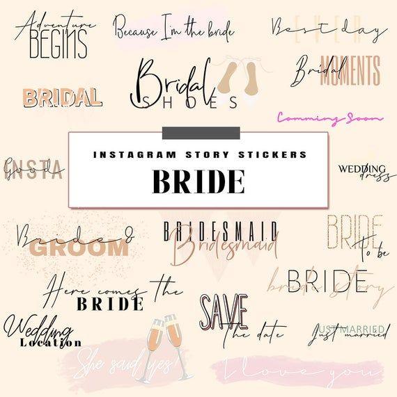 Instagram Stickers Bride Wedding Stickers Bridal Stickers Instagram Story Stickers Ig Story Stickers Etsy Bridal Instagram Stickers In 2020 Wedding Stickers Instagram Story Bridal Moment