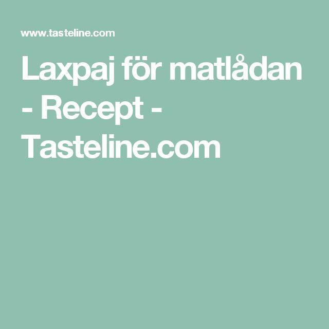 Laxpaj för matlådan - Recept - Tasteline.com