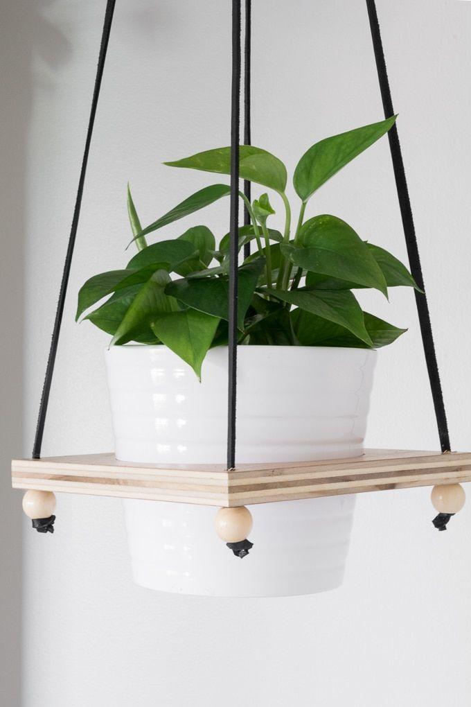 Diy Hanging Plant Holder Make A Wooden Hanging Plant Pot Holder Hanging Plants Indoor Plant Pot Holders Hanging Plant Holder