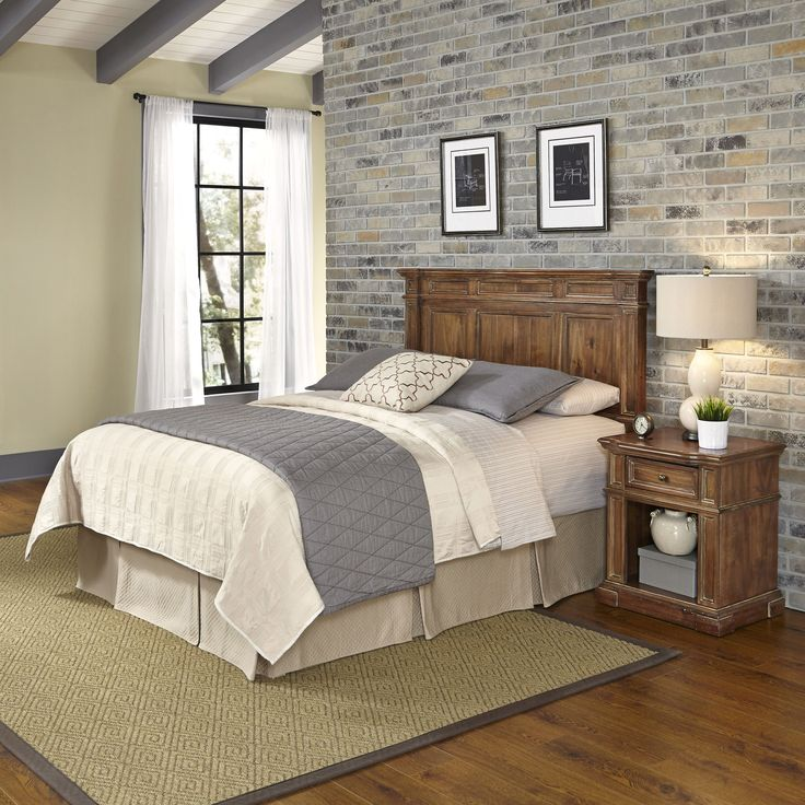 Americana Vintage Headboard and Night Stand by Home Styles