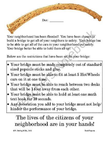 truss bridge popsicle stick instructions