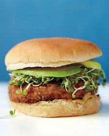 These easy meatless burgers are prepared with bulgur wheat, canned pinto beans,
