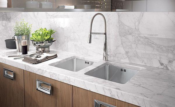 Kitchen furniture walnut-washbasin