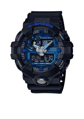 G-Shock  Mens Black  Blue Ana-Digi G-Shock Watch