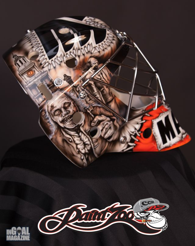 Steve Mason's 2013-14 mask of zombies of Philly's historic figures