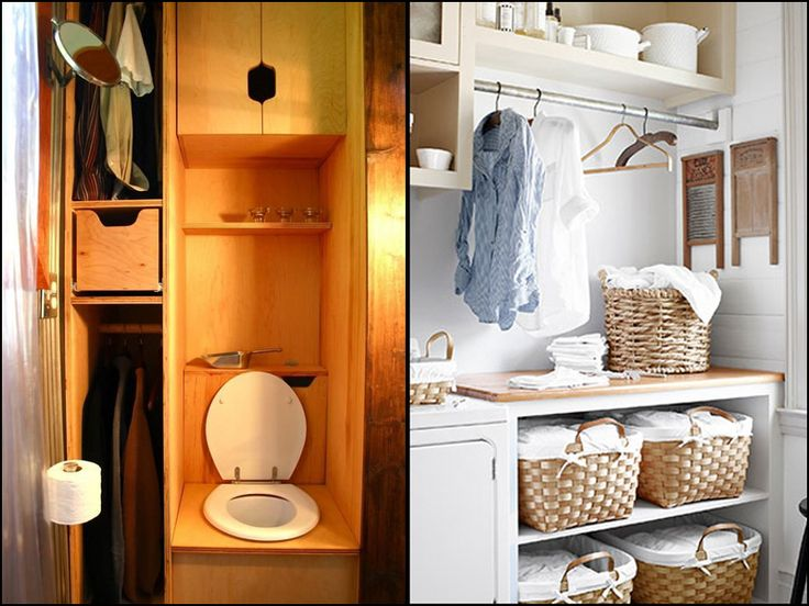 Tiny House Bathroom Wardrobe