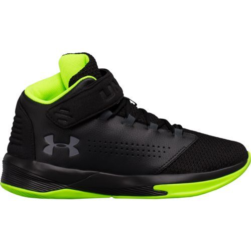 Under Armour Boys' BGS Get B Zee Basketball Shoes (Black/Grey, Size