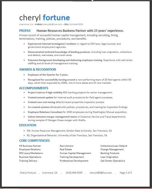 default resume