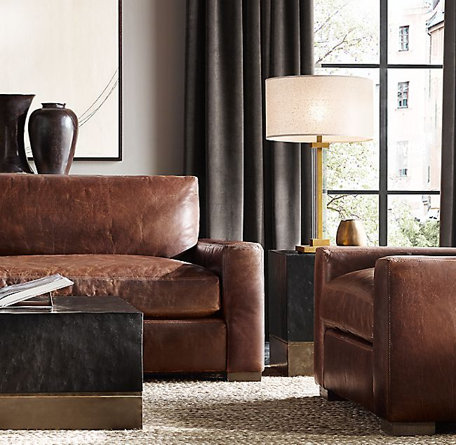 Maxwell Leather L Sectional | Leather sofa, Luxe decor