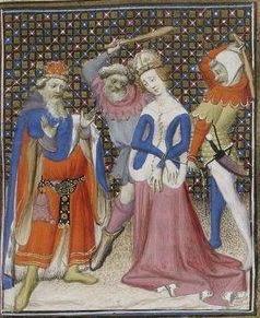 Giovanni Boccaccio, De Claris mulieribus; Paris Bibliothèque nationale de France MSS Français 598; French; 1403, 136r. http://www.europeanaregia.eu/en/manuscripts/paris-bibliotheque-nationale-france-mss-francais-598/en