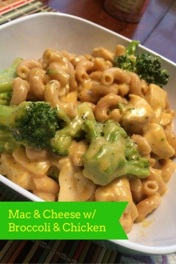 21 Day Fix Mac & Cheese with broccoli & chicken