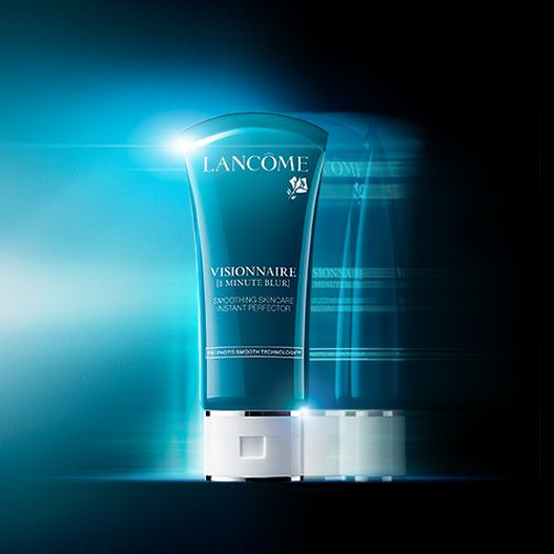 Blur skin imperfections in a flash.  Discover Visionnaire Blur. #photoperfectskin