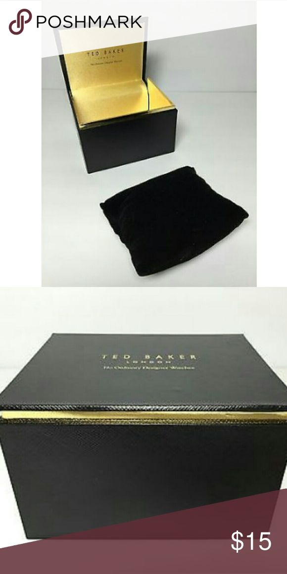 🎯🎯🎯SEARCHING FOR TED BAKER WATCH BOX🎯🎯🎯 NOT FOR SALE. I'm searching for this Ted Baker London watch box with pillow. Let me know if you've got one or more.    My partner in crime wants all his watch boxes to match. Ted Baker London Accessories Watches