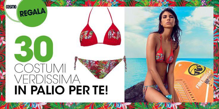 Cosmo Regala… Il bikini a triangolo rosso Fuego di Verdissima