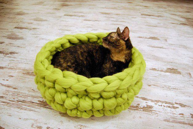Eko-legowisko, domek, koszyk dla kota - 100% wełna - Zlosliwy-Lis - Legowiska dla kota