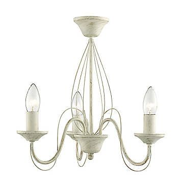 A traditional style three arm chandelier in a brushed design. Perfect for giving your room a wonderful decorative element that will also makes a great focal point.  5 x Max 60w E14 Candle blubs required  Electrical installation required  Metal  Dimensions approx. 38 x 41.5 x 41.5 cm (15 x 16¼ x 16¼ ins) Please note: These Luminaries are compatible with bulbs A++ - E Energy classes.