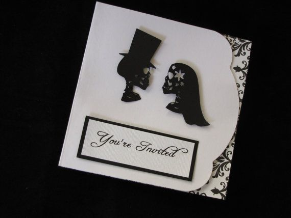 Romantic Gothic Wedding Invitations U0026 RSVP Card By Funnstuffpdx67