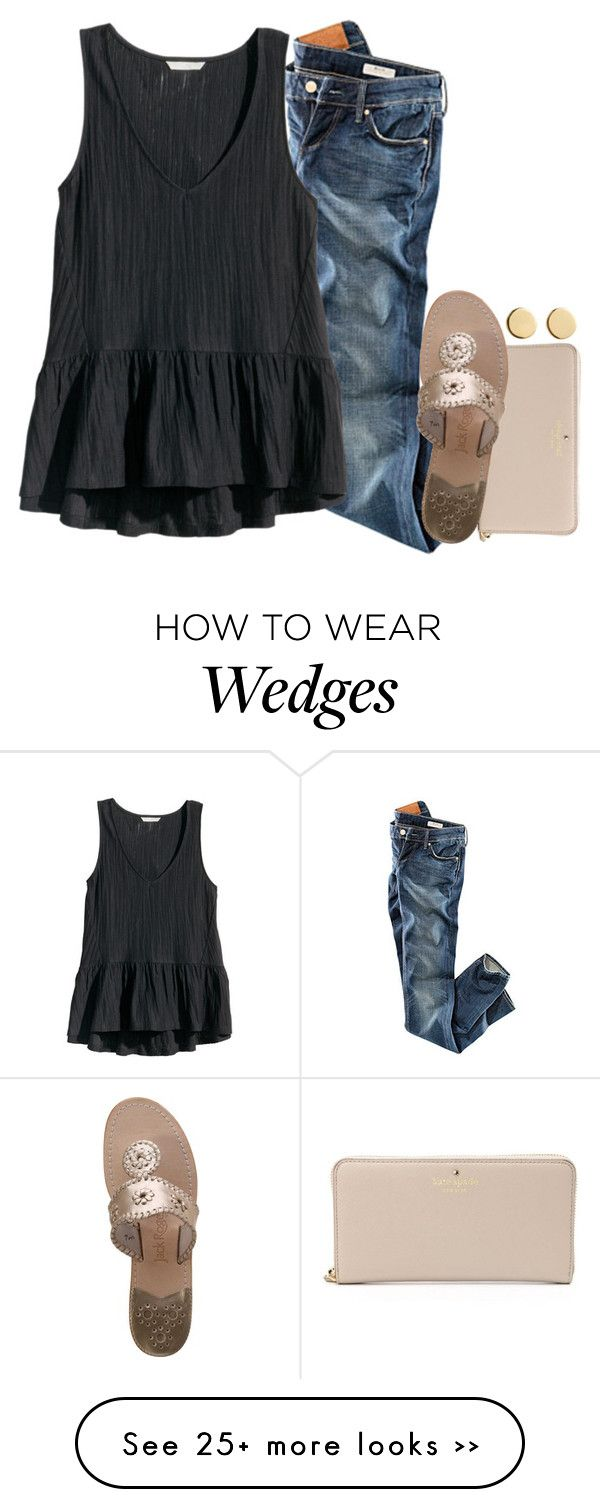 """""""It's thundering, hailing and lightning at my house! I hate it!"""" by mac-moses on Polyvore featuring H&M, Kate Spade, Jack Rogers and Loren Stewart"""