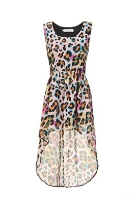 Multi colored cheetah print dress
