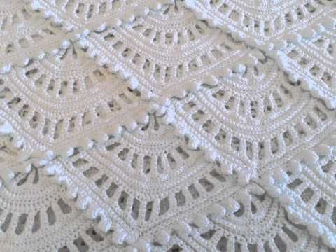 Manta Cobija tejida del centro a la orilla Crochet parte 1 de 2 - YouTube