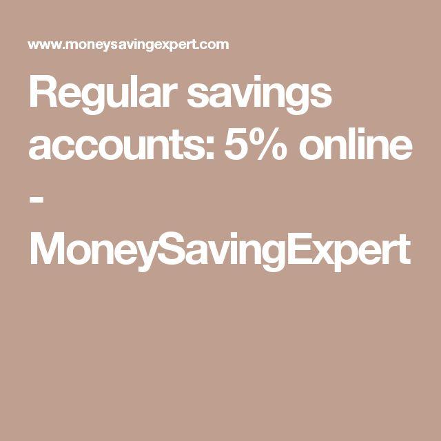 Regular savings accounts: 5% online - MoneySavingExpert