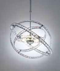 Dar Lighting Chrome and Crystal Glass Ceiling Pendant Light Fitting - This stunning light fitting would make a beautiful addition to any home. £275.00