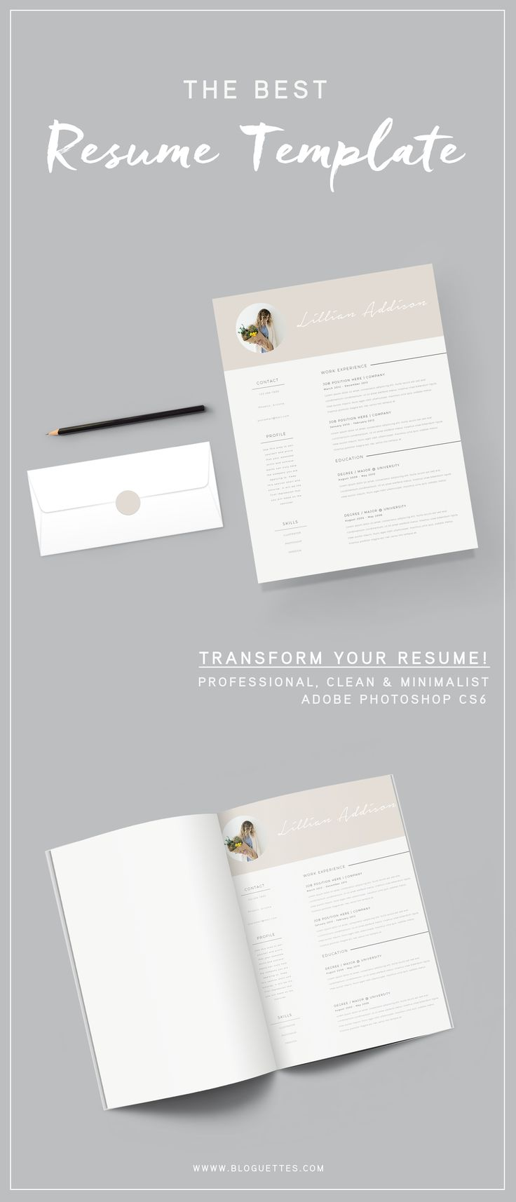 Resume Template u2013 Lillian 169 best Work