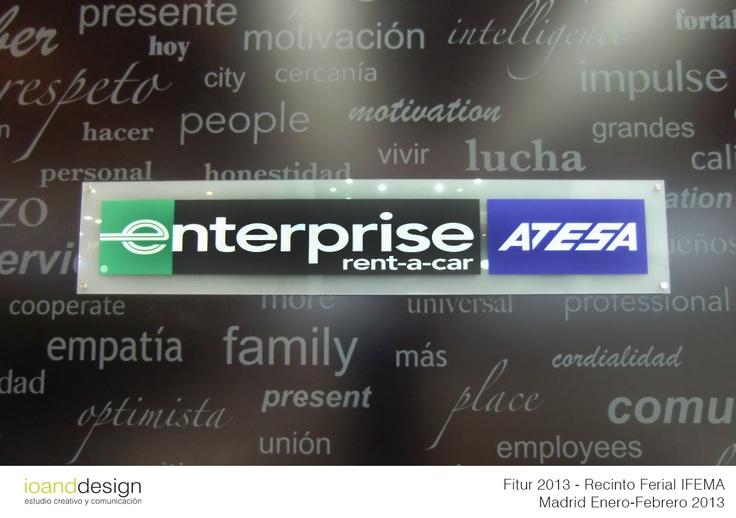 """Stand realizado para la multinacional americana de rent a car """"ENTERPRISE-ATESA"""" en la Feria Internacional del Turismo ( #IFEMA 2013 ) en el Recinto Ferial de Madrid #IFEMA en Enero 2013 #ExhibitionStands"""
