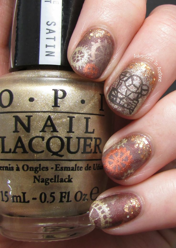 Adventures In Acetone: The Lacquer Legion, Reinvention: Steam Punk Nail Art!