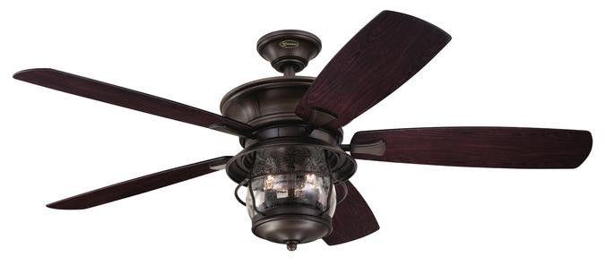 Brentford 52-Inch Reversible Five-Blade Indoor/Outdoor Ceiling Fan