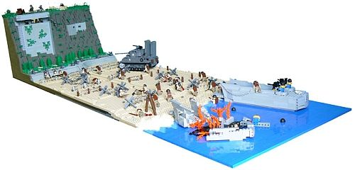 d day omaha beach lego