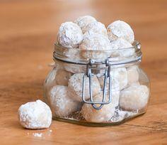No Bake Rum Balls: powdered sugar, Nilla cookies(or simaler), butter, walnuts, water, rum extract