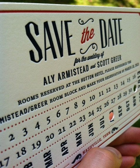 Train Ticket Stub Letterpress Save the Date Invitation.  Navy + Red.  Vintage 20's Wedding.