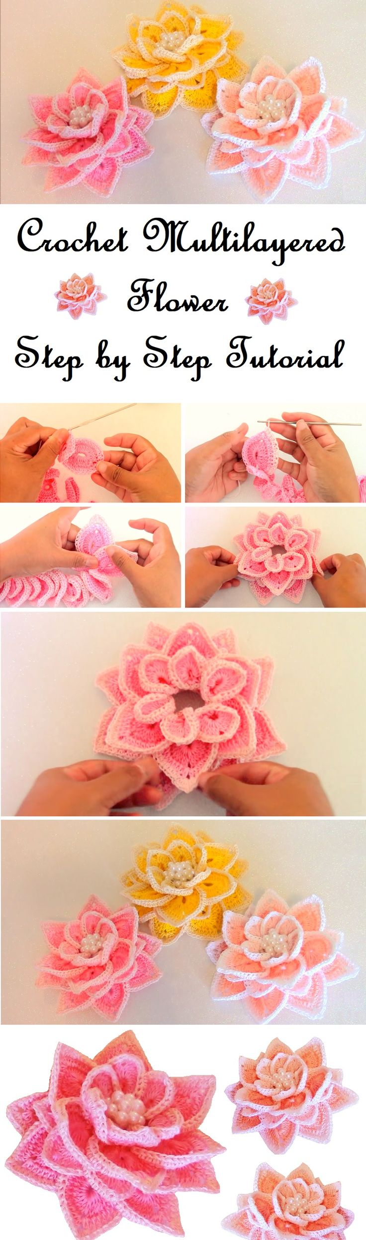 Yet another flower tutorial is available for our use. We are about to learn to crochet this beautiful flower. With the help of the tutorial we have found online this job will certainly be easy and most definitely will be a lot of fun as well. In this tutorial we are going to learn to… Read More Multilayered Flower Tutorial