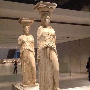 """""""The #Cariatidis""""  #AcropolisMuseum, #Greece"""