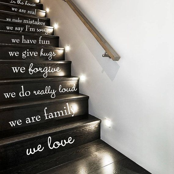 Foyer Stairs Quote : Vinyl stickers for your stairs so adorable especially