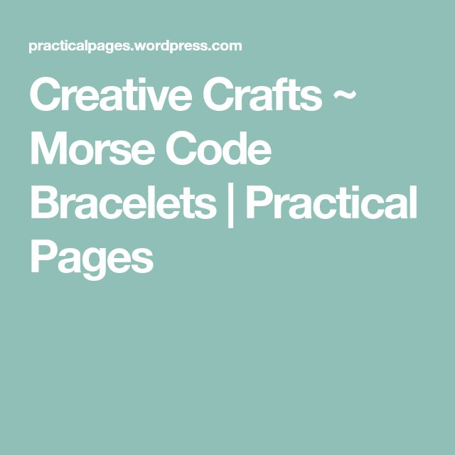 The 25+ best Morse code bracelet ideas on Pinterest Morse code - morse code chart