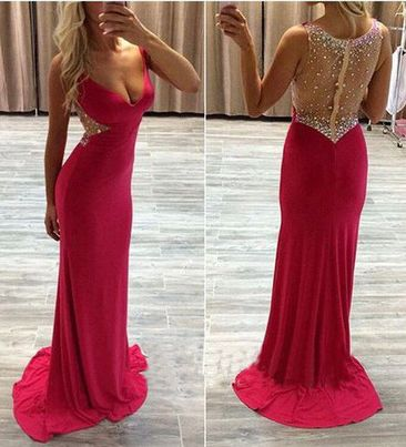 Sexy Sheath Prom Dresses,Long Evening Dresses,Tight prom dress,Glamorous prom dress