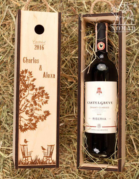 Personalized Wine Box Wedding Custom By Nomadgift