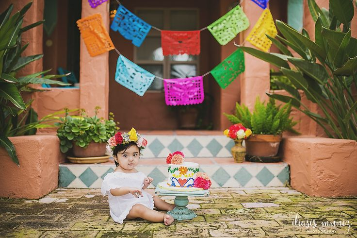 Cake Smash Mexican Floral Themed Iliasis Muniz