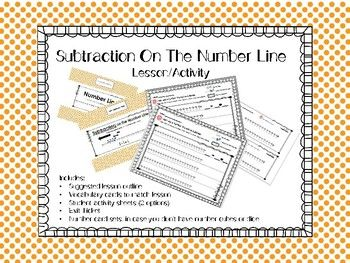 Within this product, you will find the items I use to teach subtraction on the number line. In the student activity, students will be rolling numbers for the equations; this helps the practice to feel more like a 'game' rather than just worksheet practice.