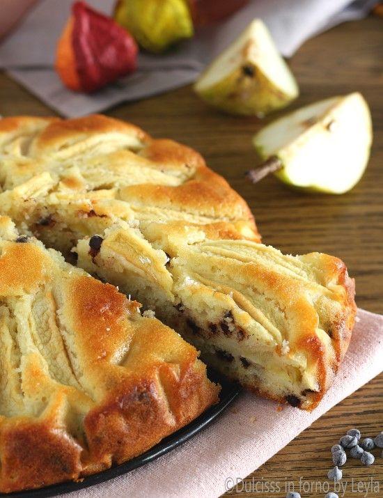Torta di pere mele e cioccolato morbida Dulcisss in forno by Leyla