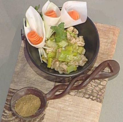 Briciole di Sapori           : Tacchino con porri al garam masala