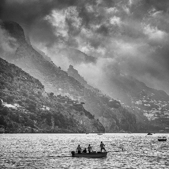 This image was made in May, 2011 while honeymooning on the Amalfi Coast. This is a fine art quality black-and-white photograph.