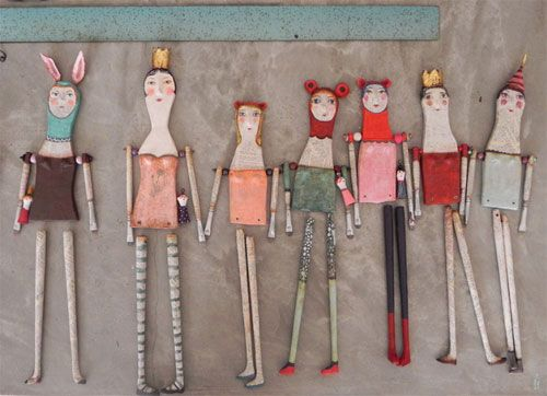 NOTE:  Definitely Click On This Pin To Further Explore An AMAZING, UNIQUE, INSPIRING, CREATIVE SITE !!!         Paper friends by Juliana Bollini  Imagining with paper: Sculptures by Juliana Bollini