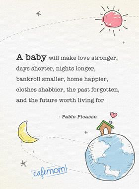 A baby will make love stronger...